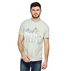 Mantaray - Pale green palm tree print t-shirt