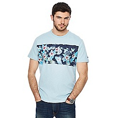 Mantaray - Light blue floral chest print t-shirt
