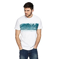 Mantaray - White wave print t-shirt