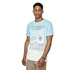 Mantaray - Blue 'LA' print t-shirt