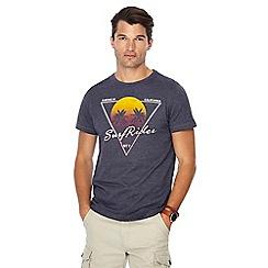 Mantaray - Navy 'Surf Rider' print t-shirt