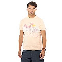 Mantaray - Orange palm print t-shirt
