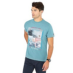 Mantaray - Big and tall turquoise photo print cotton t-shirt
