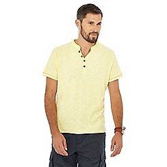 Mantaray - Yellow Y-neck t-shirt