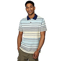 Mantaray - Yellow variegated striped polo shirt