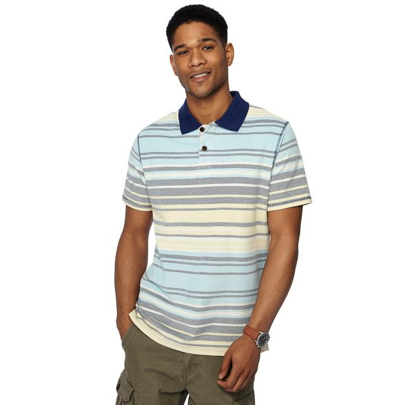tall striped polo variegated shirt and Mantaray yellow Big 8WExU4
