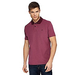 Mantaray - Big and tall dark pink textured polo shirt