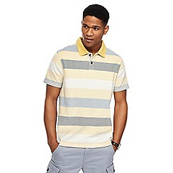Mantaray - Big and tall yellow striped polo shirt