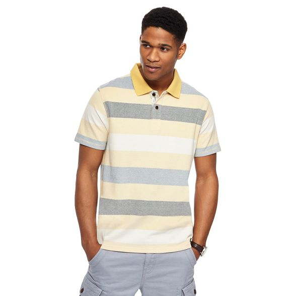 Yellow Mantaray Yellow shirt polo Mantaray striped striped polo shirt Mantaray qwIRtxY