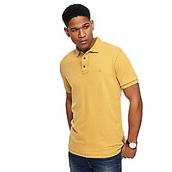 Mantaray - Big and tall dark yellow polo shirt