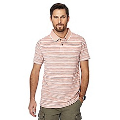 Mantaray - Big and tall orange fine striped polo shirt
