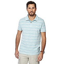 Mantaray - Blue fine striped polo shirt