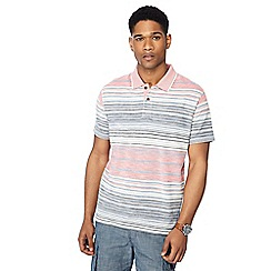 Mantaray - Big and tall red striped polo shirt