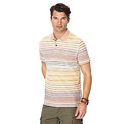 Mantaray - Orange striped polo shirt
