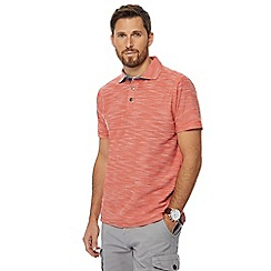 Mantaray - Dark orange birdseye textured polo shirt