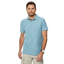 Mantaray - Turquoise birdseye textured polo shirt