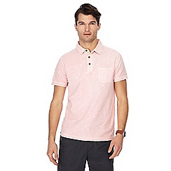 Mantaray - Big and tall pink vintage wash polo shirt