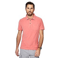 Mantaray - Big and tall peach vintage wash polo shirt