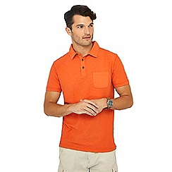 Mantaray - Bright orange vintage wash polo shirt