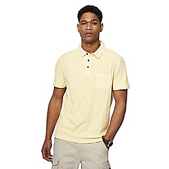 Mantaray - Pale yellow vintage wash polo shirt
