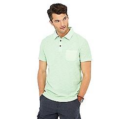 Mantaray - Bright green vintage wash polo shirt