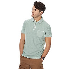 Mantaray - Big and tall pale green vintage wash polo shirt