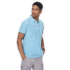 Mantaray - Aqua vintage wash polo shirt