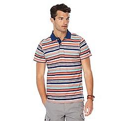 Mantaray - Orange textured stripe polo shirt