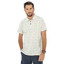 Mantaray - Yellow surfboard print polo shirt