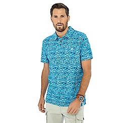 Mantaray - Turquoise surfboard print polo shirt