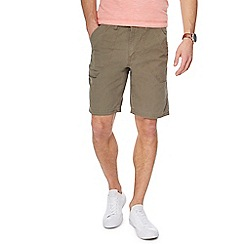 Mantaray - Big and tall khaki shorts