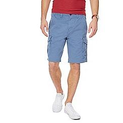 Mantaray - Big and tall blue cargo shorts