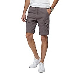 Mantaray - Dark Grey Cotton Cargo Shorts