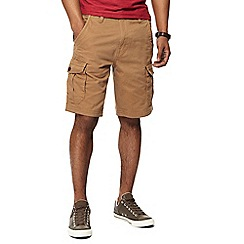 Maine New England - Big and tall tan cargo shorts