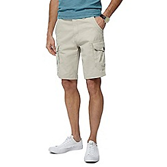 Mantaray - Natural Cargo Cotton Shorts