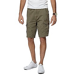 Mantaray - Khaki Cotton Cargo Shorts