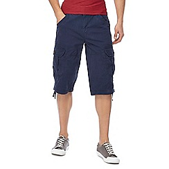 Maine New England - Big and tall navy slub shorts