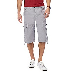 Maine New England - Light grey slub shorts
