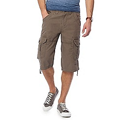 Maine New England - Light brown slub shorts