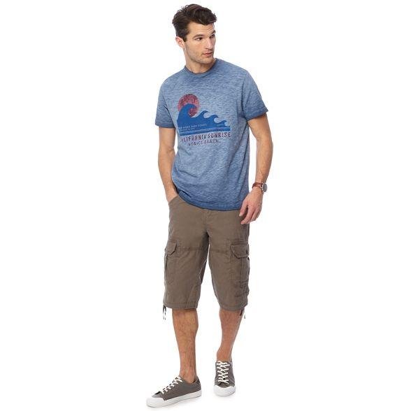 Mantaray slub brown Big tall and light shorts 6Fw60rqf