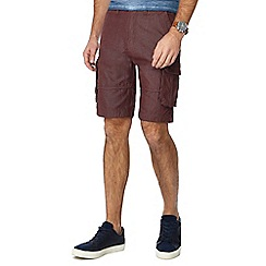 Maine New England - Big and tall red pindot cargo shorts