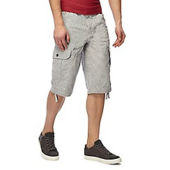 Maine New England - Light grey crosshatch cargo shorts