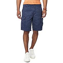 Mantaray - Navy leaf print cargo shorts