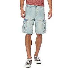 Maine New England - Light blue light wash denim cargo shorts