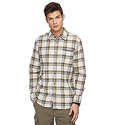 Mantaray - Natural checked long sleeve shirt