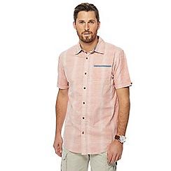 Mantaray - Light orange check print short sleeve shirt