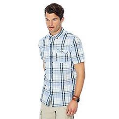 Mantaray - Big and tall green checked short sleeve shirt