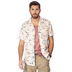 Mantaray - Big and tall pink floral print short sleeve shirt