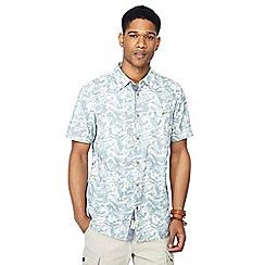 Mantaray - Big and tall green camouflage print short sleeve regular fit shirt