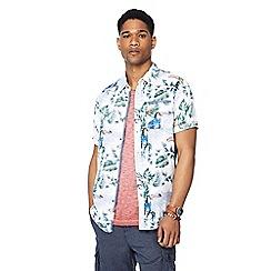 Mantaray - Blue toucan print short sleeve regular fit shirt